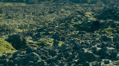 Black Stones in ICELAND Stock Footage