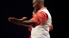 Brazilian Salsa Dancing in full costume Stock Footage