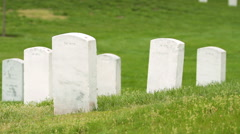 Walking Past Headstones at Arlington National Cemetery Stock Footage