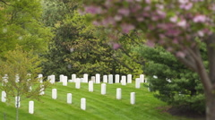 Headstones at Arlington National Cemetery 02 Stock Footage