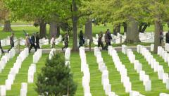 Visitors at Arlington National Cemetery Stock Footage