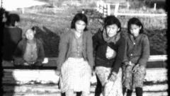Aleut American Indian Girls Kids Alaska Child 1940s Vintage Film Home Movie 8471 Stock Footage