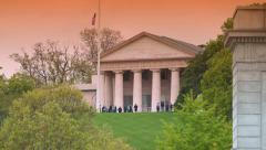 Arlington House at National Cemetery Stock Footage