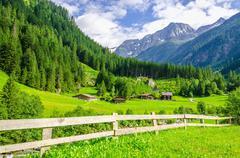 Alpine landscape in Zillertal Alps, Austria Stock Photos