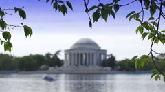 Thomas Jefferson Memorial in Summer Stock Footage