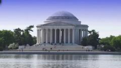 Thomas Jefferson Memorial in Summer 2 Stock Footage
