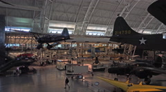 Air and Space Smithsonian Museum historic aircraft display 4K 022 Stock Footage