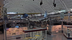 Smithsonian Air Space Museum aircraft and educational display 4K 026 Stock Footage