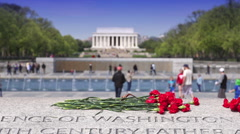 Lincoln & WWII Memorials - stock footage