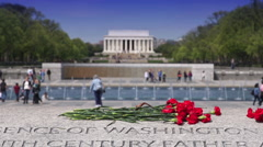 The Lincoln & WWII Memorials - stock footage