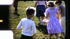 Wild Boy EASTER EGG Hunt Holding Basket 1960s Vintage Retro Film Home Movie 8492 - stock footage