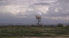 Doppler Radar Tower Station 01 Stock Footage