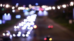 Evening traffic. The city lights. Motion blur. Abstract background. Stock Footage