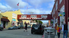 Stock Video Footage of A View of Cannery Row to the North