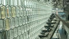 Second Level Perspective Inside the Harpa in ICELAND Stock Footage