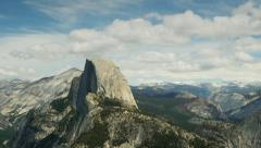 Yosemite Half Dome, Glacier Point View, Time Lapse Stock Footage