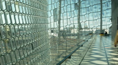 Second Level of the Harpa in ICELAND Stock Footage