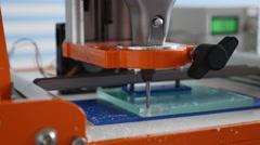 Milling machine processing plastic Stock Footage