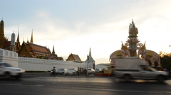 Wat Phra Kaew and the Grand Palace, Bangkok, Thailand. Footage Stock Footage