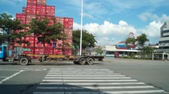 Shenzhen Shekou wharf SCT Stock Footage