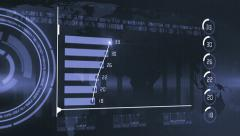 Business chart marketing report diffrent blue Stock Footage