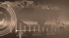business chart marketing report sepia - stock footage