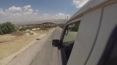 Driving Down A Rural Road In The Middle East Stock Footage