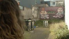 Downtown REYKJAVIK Graffiti, ICELAND Stock Footage