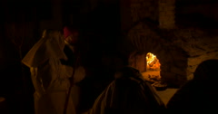 Old bakery withlwood-burning stove Stock Footage