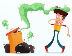Stinky garbage Stock Illustration