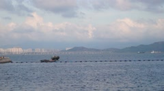 The scenery of Shenzhen Shekou harbor Stock Footage