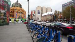 Point of view shot of walking in downtown Melbourne, Australia Arkistovideo
