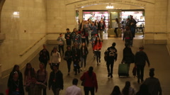 Traffic of commuters at the Grand Terminal Stock Footage