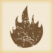Grungy fire icon Stock Illustration