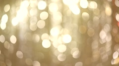 Christmas golden holiday glowing background - stock footage