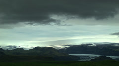 Vatnajokull View from Ring Road in ICELAND Stock Footage
