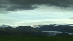 Glacier Entrance from Ring Road in ICELAND Stock Footage
