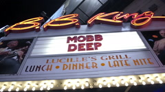 Mobb Deep sign at BB Kings show in Times Square Manhattan NYC Stock Footage
