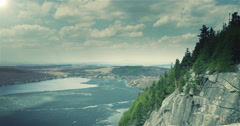 Cliff View Stock Footage