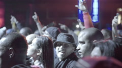 Hip Hop fans audience cheering club live rap music slow motion BB Kings NYC - stock footage