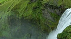 Skógafoss View in ICELAND Stock Footage