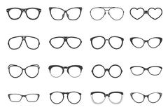 Eyeglasses Set Flat - stock illustration