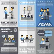 Meeting Poster Set Stock Illustration