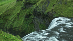 Skógafoss From Behind Waterfall in ICELAND Stock Footage