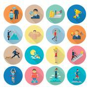 Stock Illustration of Motivation Icon Flat