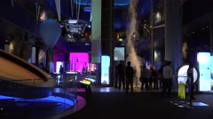 Science Storms in the Museum of Science and Industry. Stock Footage
