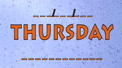 Thursday Days on drop water Stock Footage