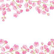 Stock Illustration of Spring flowers wallpaper