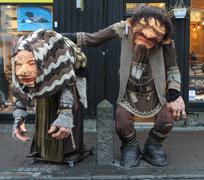 Troll dolls in rejkjiavik Stock Photos