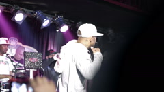 Mobb Deep show crowd cheering slow motion hip hop rap fans audience at BB Kings Stock Footage